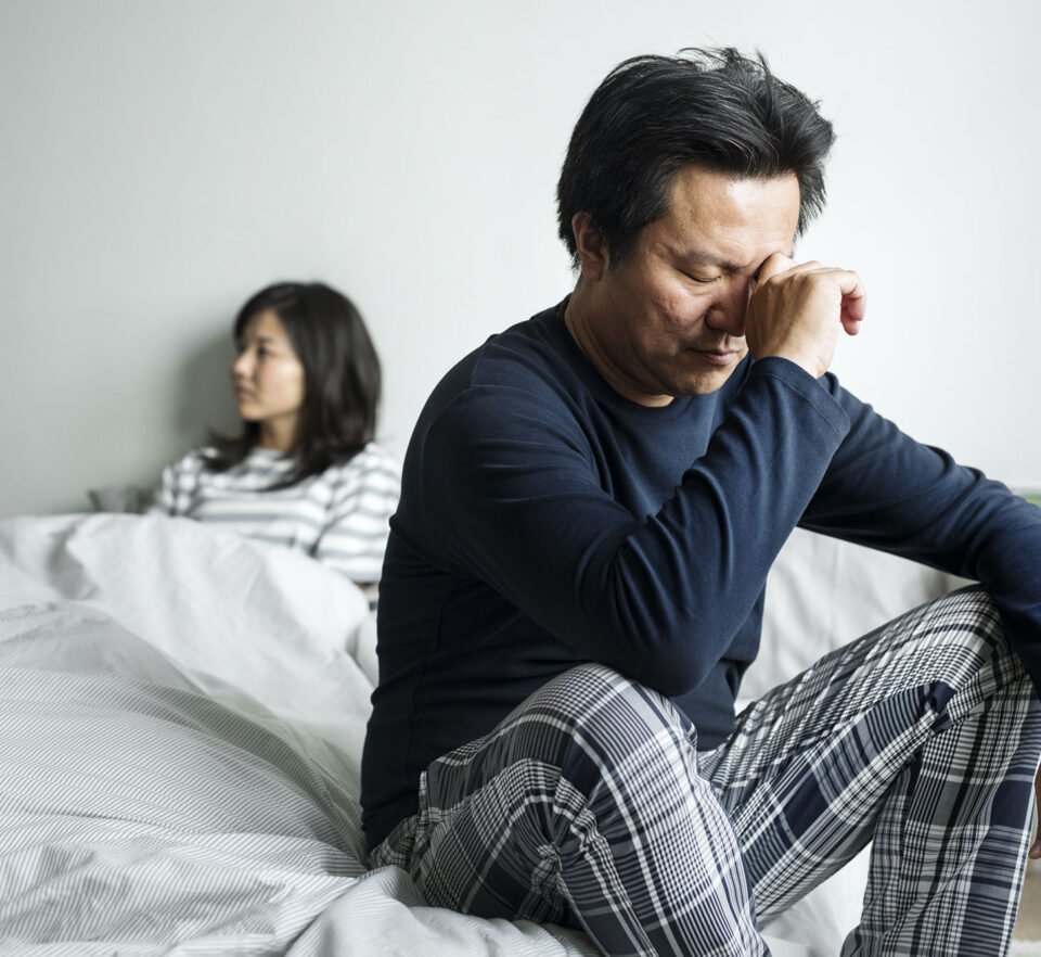 couple having relationship challenges and problems